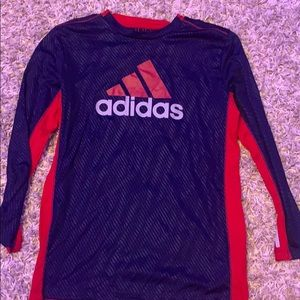 Adidas long sleeve T Ref and Blue/Black